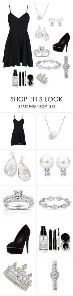 """Diamonds vs Pearls"" by giulia-ostara-re ❤ liked on Polyvore featuring Chan Luu, Ippolita, Annello, Charlotte Russe, Bobbi Brown Cosmetics and Garrard"