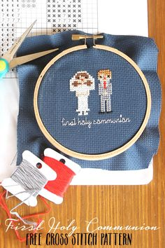 First Holy Communion Cross Stitch Pattern