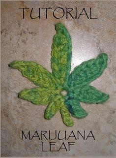 crochet marijuana leaf tutorial