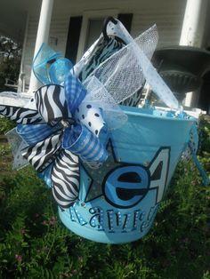 CHEER, camp, hand painted bucket.....wine bucket, gift basket, teacher gift, great graduation gift, wedding or bridal gifts ...