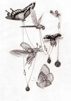 MMO Mia Overgaard combines fashion and fantasy to perfection in delicate pencil and watercolour drawings, where people, animals and plants cohabit in chaotic beauty.