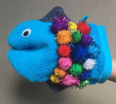 De mooiste vis van de zee: handpop gemaakt van een washandje