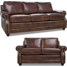 Luke Leather - Levi Havana Italian Leather Living Room Set - Levi-SL