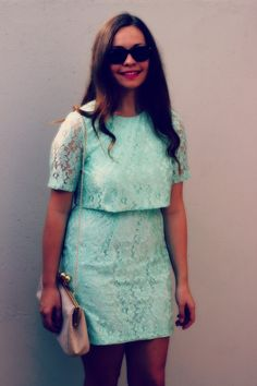Reserved for Ruby. Mint Green Dress, Blue Check, Lenses, Competition, Topshop, Photo And Video, My Style, Lace, Casual