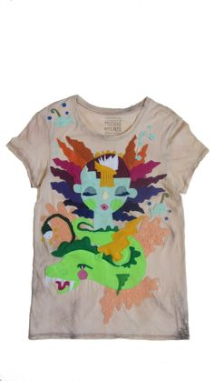 Water Goddess: EcoFi Felt Hand Stitched Organic Cotton Mushpa + Mensa Designer Top with Eco-Felt One Of A Kind Appliqués My Daughter Birthday, To My Daughter, Reverse Tye Dye, Felt Applique, Custom Tees, Recycle Plastic Bottles, Hand Stitching, Cool Shirts, Really Cool Stuff