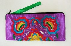 Handmade Embroidery Applique Bag Purple by dermusensohn2000, $11.99