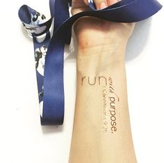 Run with Purpose Temporary tattoo: the perfect motivating accessory to your race.  Temporary Tattoo reads:  run with purpose. I Corinthians 9:26  OPTIONAL: Customized with your registered race distances: 26.2 13.1 6.2 3.1  If you do not see your distance combo in our variations, please add your desired mileage in the notes section at checkout. Measures approximately 2 1/2 in x 1 3/4 in.  o-o-o-o-o-o-o-o-o-o-o-o-o-o-o-o-o-o-o-o-o-o-o-o-o-o  Oops, why did I put it THERE?!?!... Each pu...