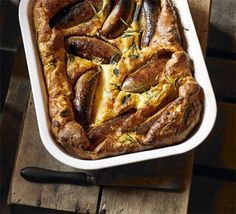 British recipe: Herby toad in the hole  This family favourite marries meaty sausages with robust herbs and traditional, comforting Yorkshire pudding