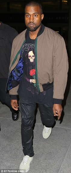 Kanye West wears Haider Ackermann Reversible Bomber Jacket and Creative Recreation Turino Sneakers | UpscaleHype