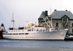 "Skoleskipet MS ""Gann"" (ex MS ""Sandnes"") i dokk. - Stavanger maritime museum / DigitaltMuseum Maritime Museum, Stavanger, Sailing Ships, Ms, Boat, Dinghy, Boats, Sailboat, Tall Ships"