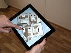 """Mit dem 3D-Raumplaner """"Roomsketcher"""" online erstellte Räume lassen sich auch auf der dazugehörigen iPad-App betrachten."""