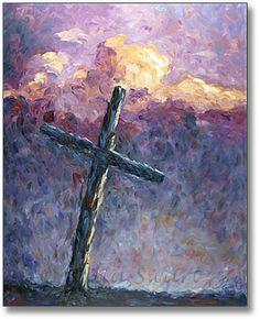Cross Paintings On Canvas   Julia Swartz Fine Art Gallery: The Cross - Oil Painting