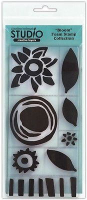 New for Rubber Stamping Set of  Foam Stamps By Studio--Creative Layers BLOOM