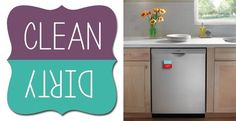 Dishwasher Clean | Dirty Magnets (New Color)