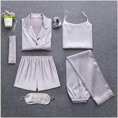 Cute Sleepwear, Sleepwear Sets, Silk Sleepwear, Nightwear, Satin Pyjama Set, Satin Pajamas, Pyjamas Silk, Silk Pj Set, Women's Pajamas