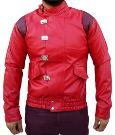 Red Akira Kaneda leather Jacket ►Deal of the Day◄ at Amazon Men's Clothing store: