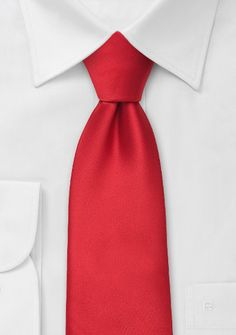 Valentine's Day Gifts for Him Under $10: Solid color ties Bright red necktie, $5 | Cheap-Neckties.com