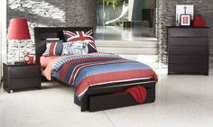 Benton Chocolate King Single Kids Bed | Bedshed Think I may have just found Jack's 'BIG BOY' bed!