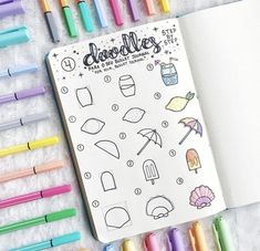 21 Surprisingly Simple Summer Doodle Art For Beginners Tutorials! 21 Surprisingly Simple Summer Doodle Art For Beginners Tutorials! – … 21 Surprisingly Simple Summer Doodle Art For Beginners Tutorials! Bullet Journal Ideas Pages, Bullet Journal Inspiration, Art Journal Pages, Journal Prompts, Bullet Journals, Doodle Art For Beginners, Easy Doodle Art, How To Draw Doodle, Doodle Doodle