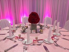 Tampa Weddings - Marriott Westshore Ballroom.  Pink wedding Details