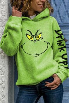The Grinch, Online Fashion Boutique, Winter Accessories, Accessories Online, Online Shopping Clothes, Types Of Sleeves, Green And Grey, Graphic Sweatshirt, Sweatshirts