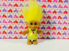 Vintage Treasure Troll Doll/ Yellow Haired by VintageToyCorner