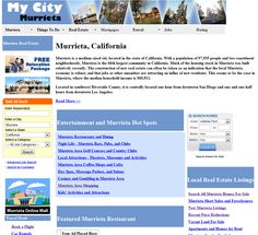 Murrieta community information including parks, schools, hotels, things to do, and Real Estate.
