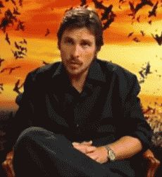A Gif from a Batman Begins interview.  Thanks Falco!