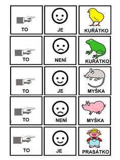 Skladame jednoduche vety Pictogram, Preschool Activities, Worksheets, Language, Education, Learning, Studying, Languages, Literacy Centers