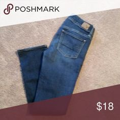 American Eagle Straightleg jeans Size 2 Short, worn but great condition. American Eagle Outfitters Jeans Straight Leg