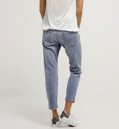 Opus LOTTY jasne Jeansy Relaxed fit light blue