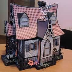 Bewitched Cabin from SVGCuts using Close to My Heart Scaredy Cat Papers