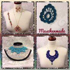 Beautiful pieces of jewelry - handmade and unique. To buy here: http://www.ebay.de/usr/maschen-made http://maschenmade.dawanda.com http://etsy.com/de/shop/maschenmade  Follow me on Facebook:  http://www.facebook.com/maschenmade And Twitter
