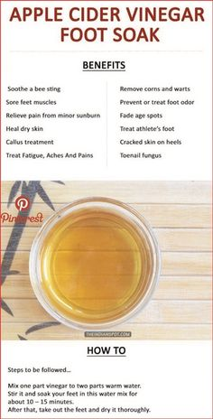 Apple Cider Vinegar Foot Soak Detox - Image Project - New Ideas Natural Cold Remedies, Natural Remedies For Anxiety, Dry Feet Remedies, Sleep Remedies, Foot Soak Vinegar, Foot Detox Soak, Diy Foot Soak, Foot Soak Recipe, Coconut Oil Weight Loss