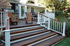 porch railing: white with wood top