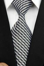 On sale for another 1m at $1.04 is this great CR0041 Black Gray Stripe Man Classic JACQUARD Woven Necktie Tie Formal. Follow for more great mens fashion neck ties! #mensfashion.
