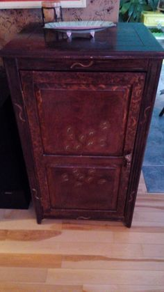 hand painted with metallic paint, cabinet, 2 shelves $395, email ladybggg@gmail.com LADYBUG DESIGNS, southern Ontario