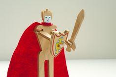 Om zelf te maken, een ridder met bewegende armen waarmee hij kan vechten.