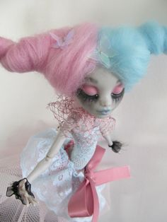 RESERVED AMANDA T Monster high doll repaint by AlexandraSoury