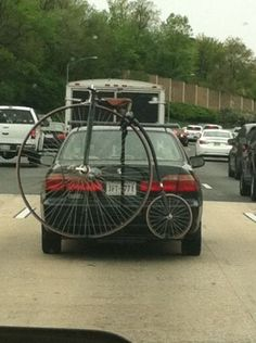 I wonder why he's not riding it. #cycling