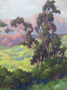 Just discovered a new artist.I really like some of his work. Quite reminiscent of the Brown County, Indiana Artists in the early Kevin Yuen Plein Air California Eucalyptus Impressionism Landscape Oil Painting Landscape Art, Landscape Paintings, Oil Paintings, Painting Art, Landscapes, California Art, Mountain Art, Art Studies, Painting Inspiration