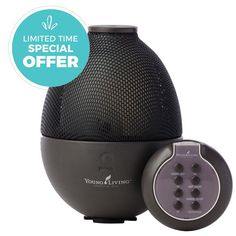 For a limited time only, get 2 free 5 ml bottles of essential oil with your purchase of Young Living's Rainstone Ultrasonic Diffuser! Combining state-of-the-art ultrasonic technology and traditional Chinese craftsmanship, this diffuser provides a balanced convergence of the grounding element of earth with the enveloping and soothing powers of essential oil infused mist. Created with an exquisite and rare purple clay found only in a small region of China.