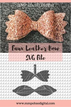 Leather Bow Template SVG, Leather Bow, Bow cut file, Hair bow SVG, Faux leather, DIY Hairbows, Bow svg, for silhouette, for cricut, svg file #FauxLeatherBow #DIYBow #SVGfile
