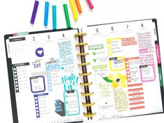 colorful January weekly pages in two of our CLASSIC Happy ...