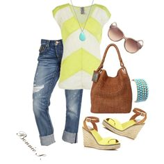 spring outfit, love the yellow!