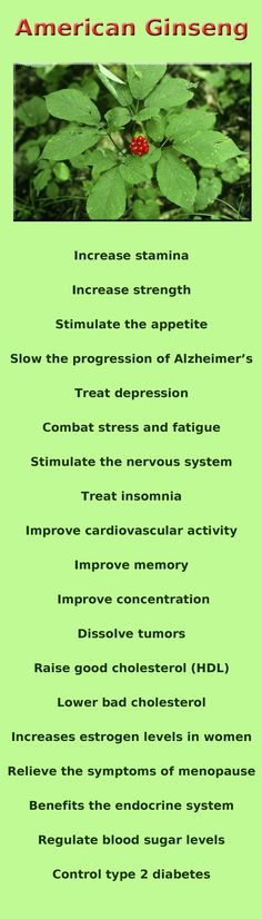www.facebook.com/holistichealthandyou--The chinese use ginseng as an aphrodesic I can attest that it works that way. I've eaten it since I was a child and NOBODY rver wanted sex as much or as often as I have. Charles yeary  Cyeary70@yahoo.com