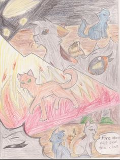 Fire alone will save our clan, Spottedleaf, Bluestar and Firestar