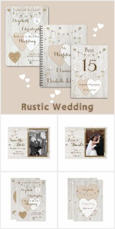 Rustic light wood Wedding Collection