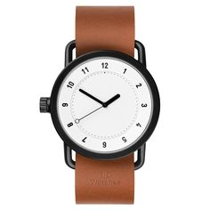 No.1 by Form Us With Love for TID, white face, tan leather strap
