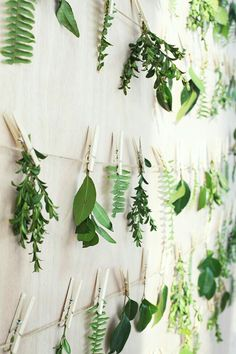 Hanging Leaves wall backdrop by A Splendid Occasion - Simple And Beautiful DIY Wall Decor to Brighten Up Your Home Deco Nature, Nature Decor, Home Decor Accessories, Decorative Accessories, Photowall Ideas, Wall Backdrops, Backdrop Ideas, Bunting Ideas, Flower Wall Backdrop
